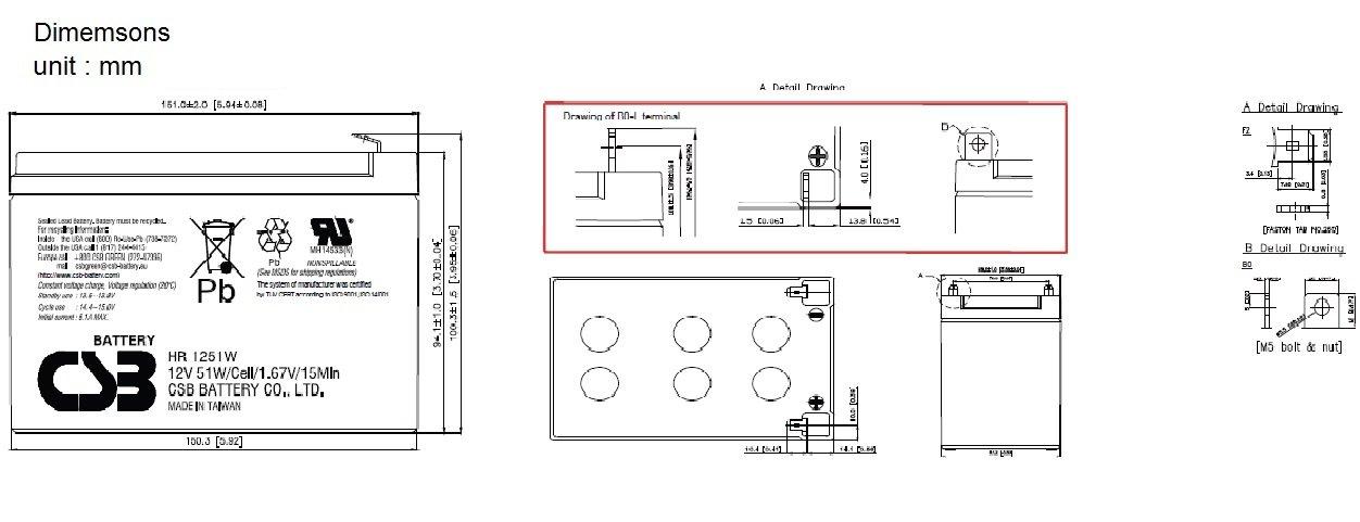 HR1251W dimensiones