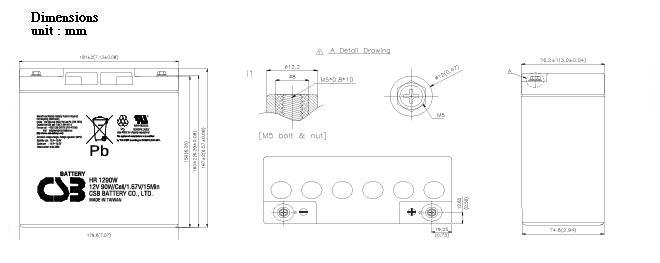 HR1290W dimensiones