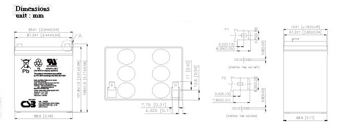 HRL1223W-dimensiones
