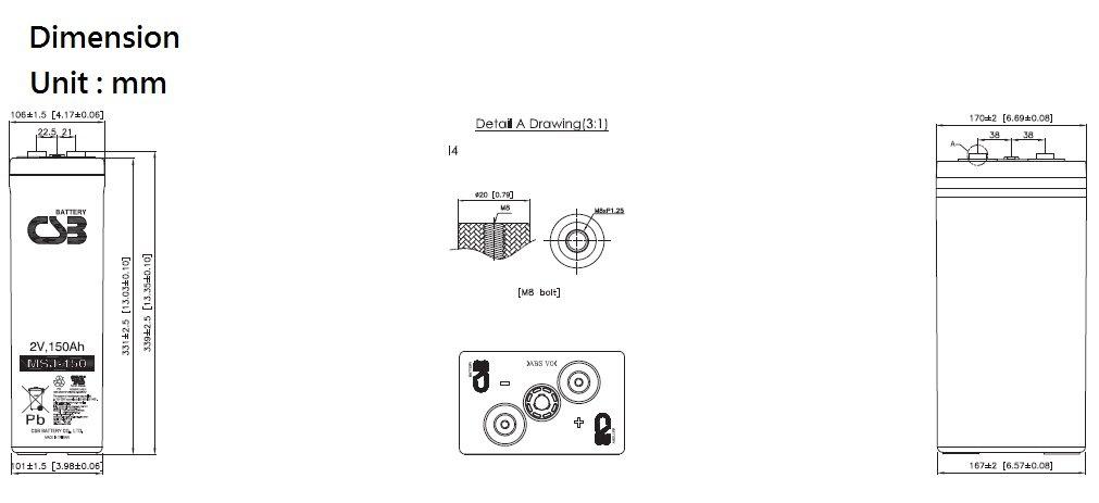 MSJ150 dimensiones